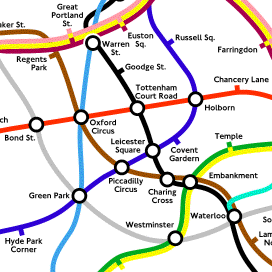 An honest tube map of the greatest city in the whole wide world!